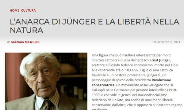 L'Anarca di Jünger e la Libertà nella Natura